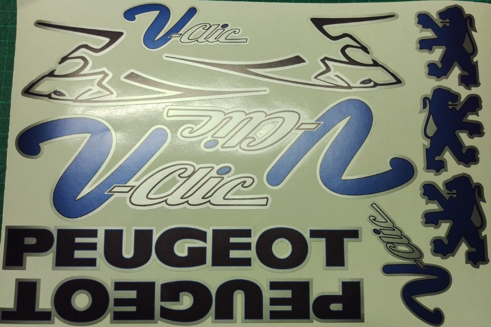 Peugeot V Clic Vclic Vclick Decals Stickers Pug Scooter